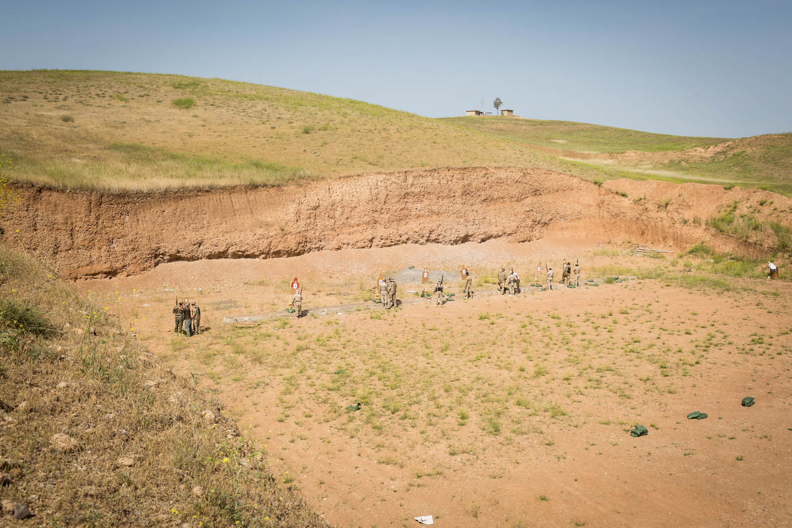 The shooting range is part of the Zerewani military compound just outside of Erbil, the capital of the Kurdistan region in Iraq.