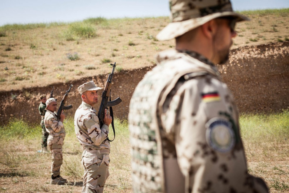 German Army training the Peshmerga in Kurdistan