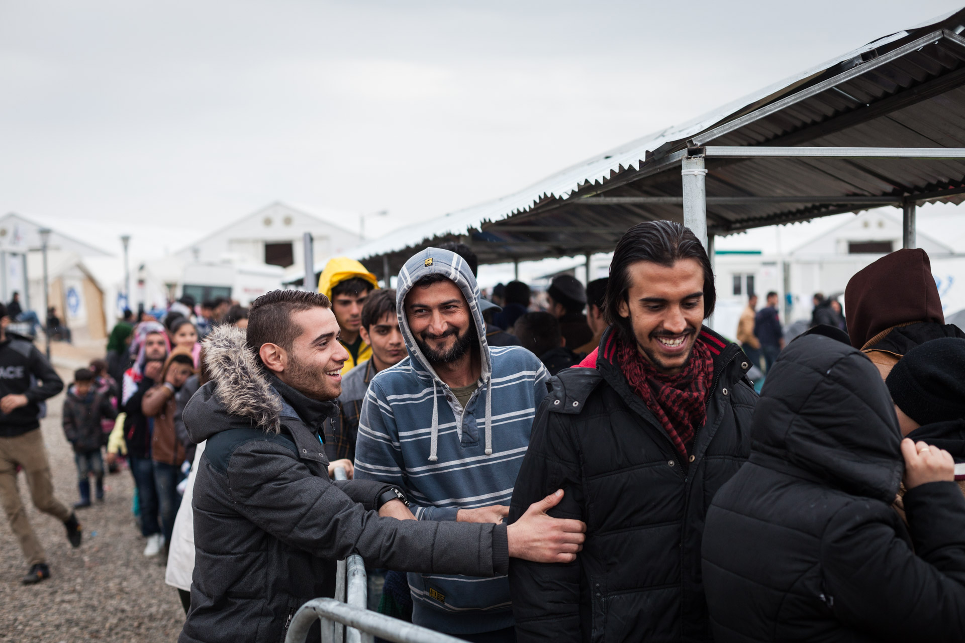 Days in Idomeni are a lot of routine. Basem is appreciated among the other people in line, because he always shares cigarettes and a laugh.