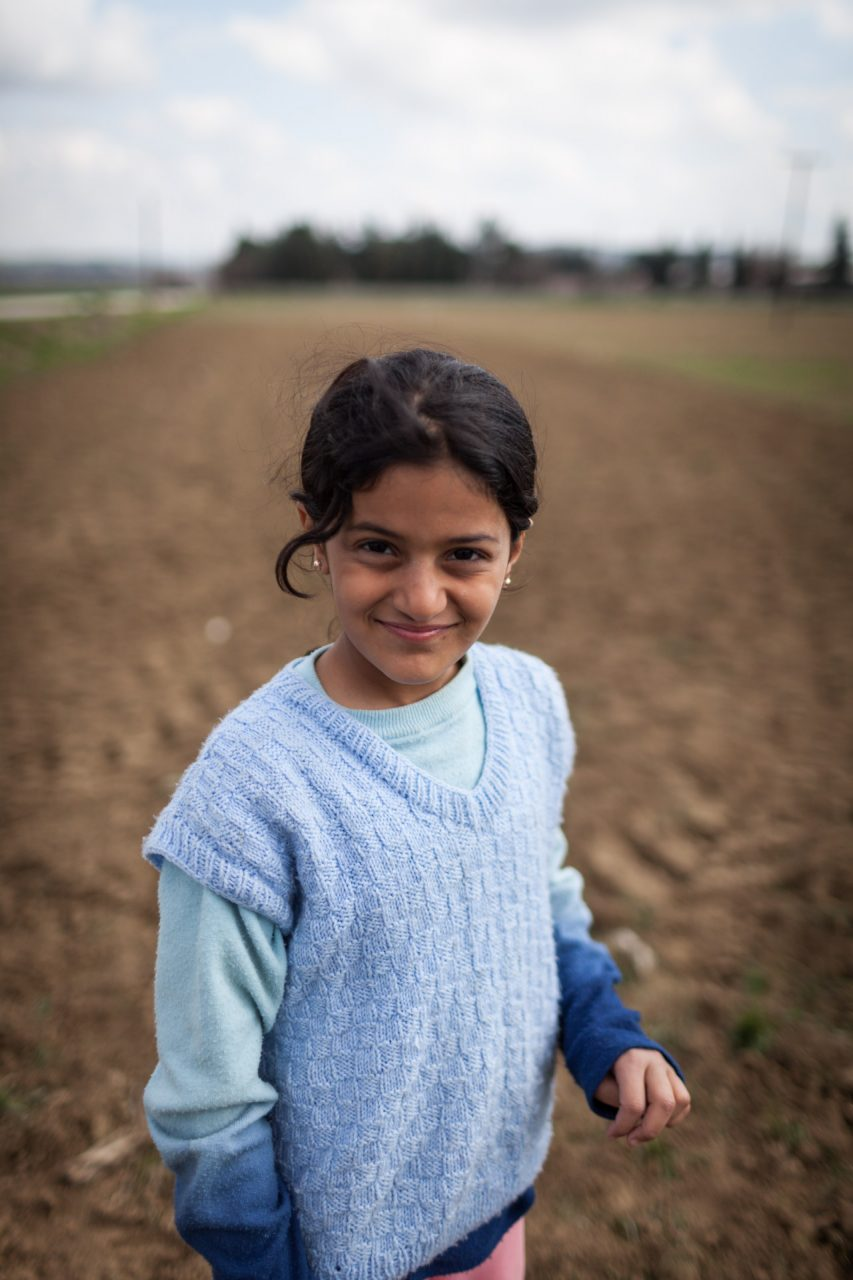 Noura. The journey from Syria to Greece quickly taught her how to act independently. She barely needs her parents any more to get through the day.