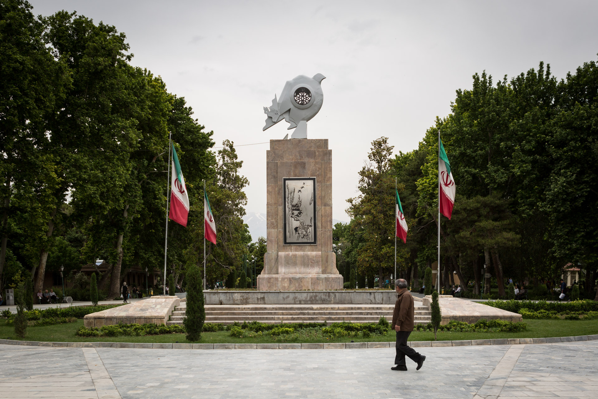 In Shahr park in downtown Tehran, a memorial reminds of the victims of the gas attacks on Sardasht on June 28th, 1987. Sardasht was the first city being attacked with chemical weapons by Iraqi forces in eight years of war.