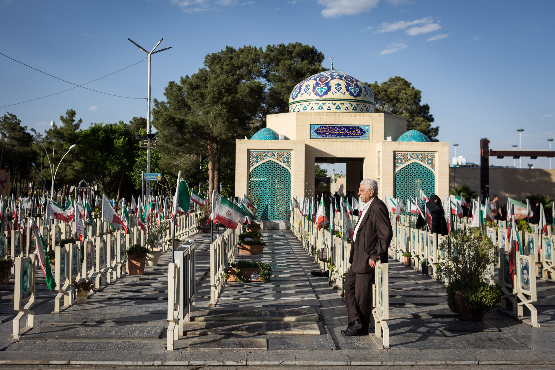 The cemetery of Isfahan is known far outside the city limits for its beauty and richly decorated martyr's section.