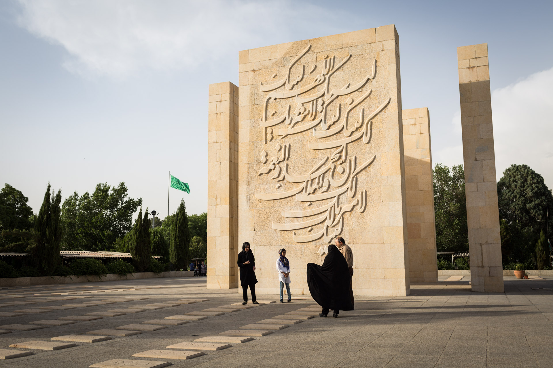 Behesht-e Zahra knows all kinds of martyrs. This monument is dedicated to more than 400 victims of the Mecca incident in 1987.