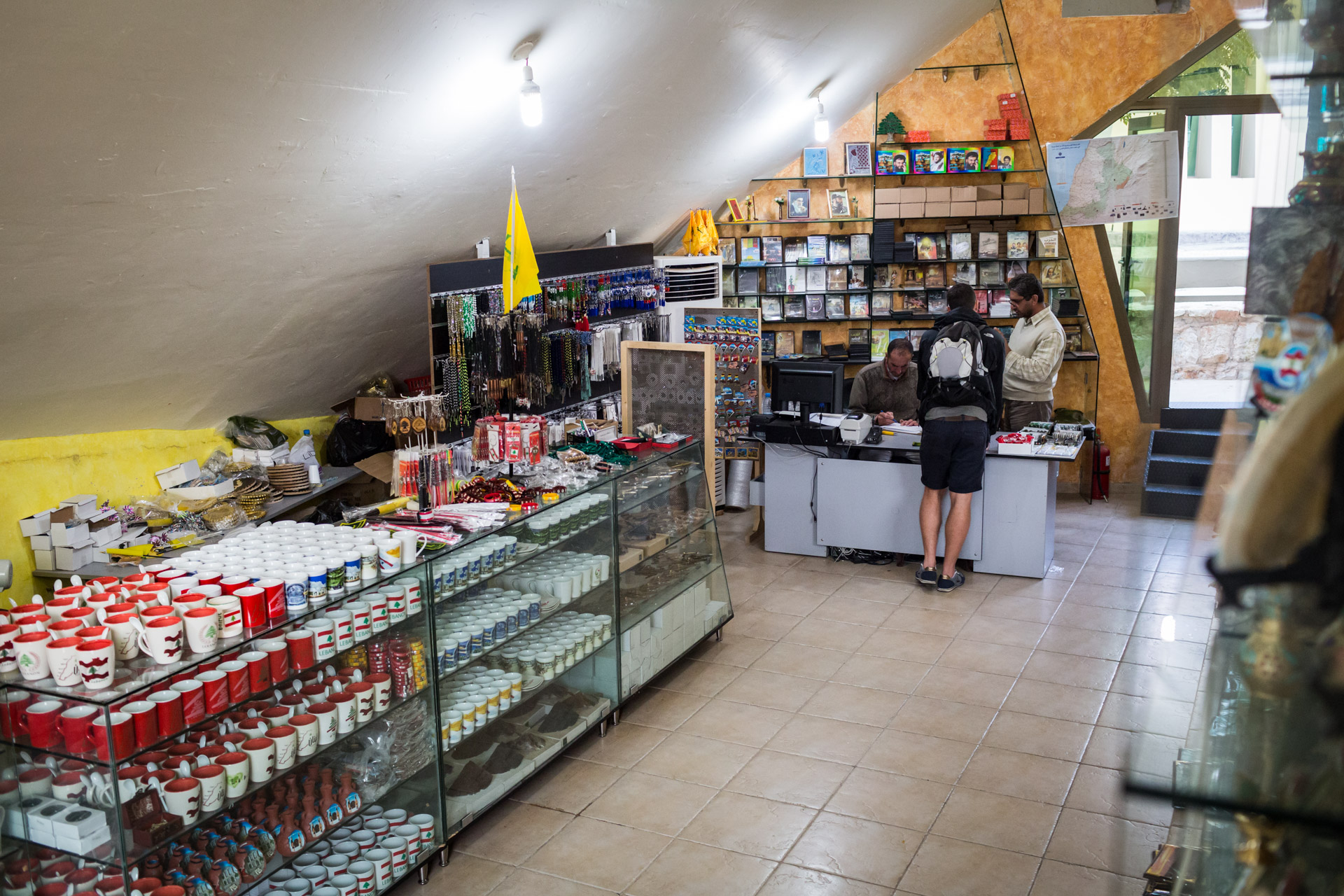 Like any other museum, Mleeta has a gift shop. Unlike other museums, it offers souvenirs featuring logos and ideas from an organisation that is branded a terrorist organisation by most western countries.